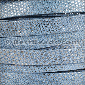 10mm flat LUXOR leather BLUE - per 2 meters