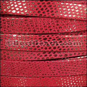 10mm flat LUXOR leather RED - per 20m SPOOL