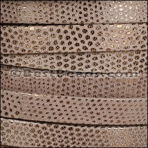 10mm flat LUXOR leather TAUPE - per 20m SPOOL