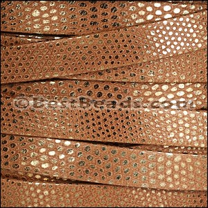 10mm flat LUXOR leather BRANDY - per 20m SPOOL