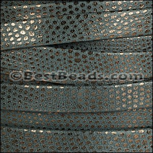 10mm flat LUXOR leather SLATE - per 20m SPOOL
