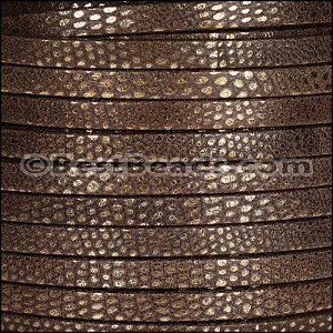 5mm flat LUXOR leather BROWN - per 20m SPOOL