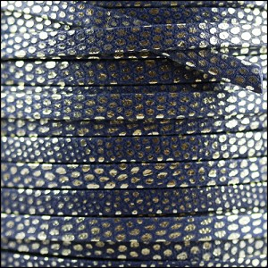 5mm flat LUXOR leather DENIM - per 5 meters