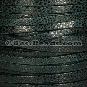 5mm flat LUXOR leather SPRUCE GREEN - per 20m SPOOL
