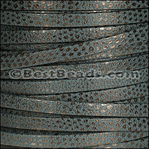 5mm flat LUXOR leather SLATE - per 20m SPOOL