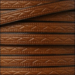 8mm flat ROMAN leather MED BROWN - per 2 meters