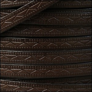 8mm flat ROMAN leather DARK BROWN - per 20m SPOOL