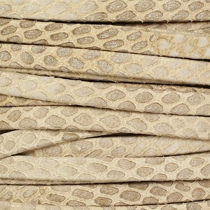 5mm flat SAVANNAH leather BEIGE - per 5 meters