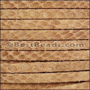 5mm flat SAVANNAH leather CAMEL - per 5 meters