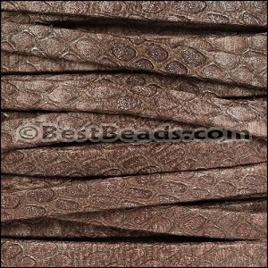 5mm flat SAVANNAH leather BROWN - per 5 meters