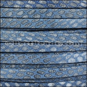 5mm flat SAVANNAH leather BLUE - per 5 meters