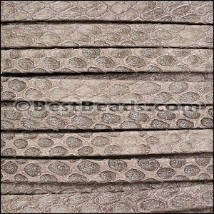 5mm flat SAVANNAH leather TAUPE - per 5 meters