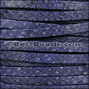 5mm flat SAVANNAH leather DENIM - per 5 meters