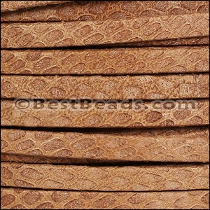 5mm flat SAVANNAH leather BRANDY - per 5 meters