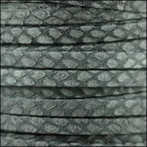 5mm flat SAVANNAH leather SLATE - per 20m SPOOL