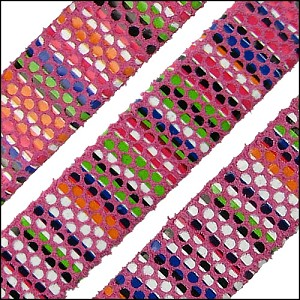 10mm flat AZTEC leather PINK - per 1 meter