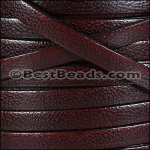 10mm flat CAMEL leather BURGUNDY - per 2 meters