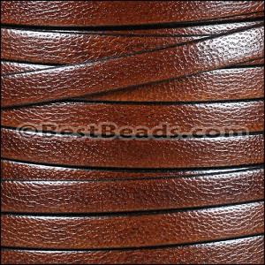 10mm flat CAMEL leather MED BROWN - per 20m SPOOL