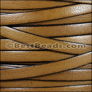 10mm flat CAMEL leather LIGHT BROWN - per 20m SPOOL