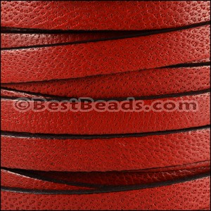 10mm flat CAMEL leather RED- per 2 meters