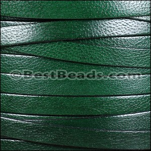 10mm flat CAMEL leather FOREST GREEN - per 2 meters