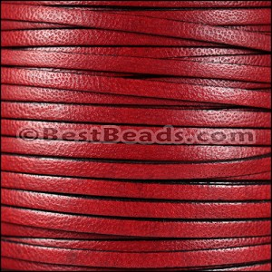 5mm flat CAMEL leather RED - per 5 meters