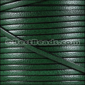 5mm flat CAMEL leather FOREST GREEN - per 20m SPOOL