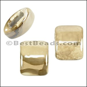 10mm flat BEIGE:CREAM 15mm Wide Ceramic bead - per 10 pcs