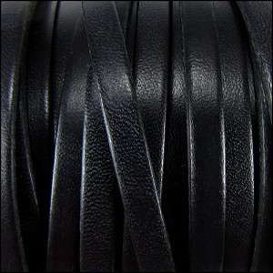 6mm flat leather BLACK - per 20m SPOOL