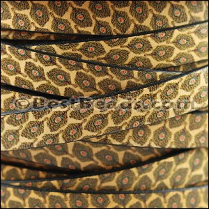 10mm flat EURO PRINTED leather ANIMAL COLLAGE - per 20m SPOOL