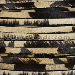 5mm flat HAIR ON leather COW - per 1 meter