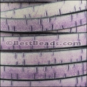 10mm flat BARK leather PURPLE - per 2 meters