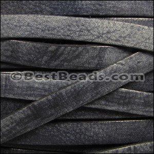 10mm flat VINTAGE leather MIDNIGHT - per 2 meters