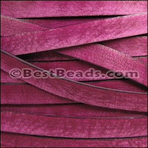 10mm flat VINTAGE leather CERISE - per 20M spool
