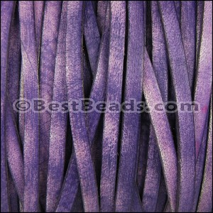 5mm flat VINTAGE leather PURPLE - per 20M spool