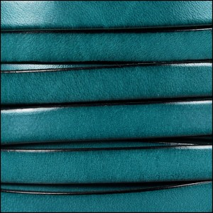 10mm flat leather TEAL - per 2 meters
