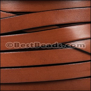 10mm flat leather TAN - per 2 meters