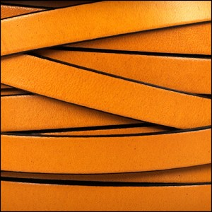 10mm flat leather MUSTARD - per 2 meters
