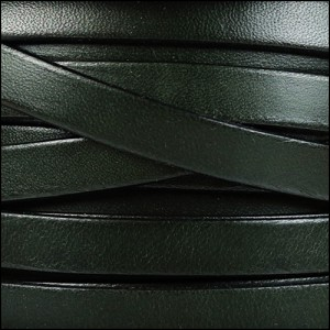 10mm flat leather ARMY GREEN - per 2 meters