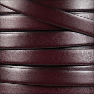 10mm flat leather BURGUNDY - per 20m SPOOL
