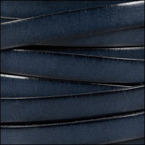 10mm flat leather PACIFIC BLUE - per 2 meters