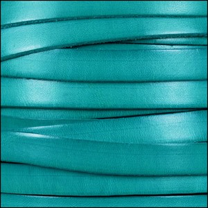 10mm flat leather DISTRESSED TURQUOISE - per 2 meters