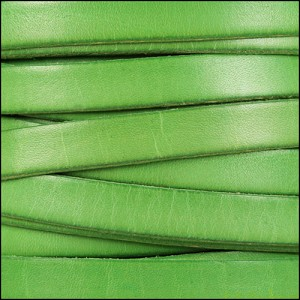 10mm flat leather DISTRESSED PASTEL GREEN - per 2 meters