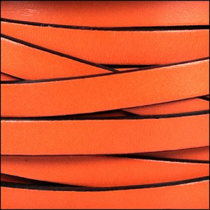 10mm flat leather RUST - per 2 meters