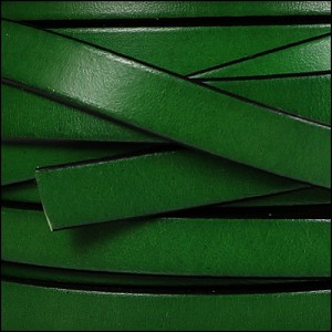 10mm flat leather BOTTLE GREEN - per 20m SPOOL