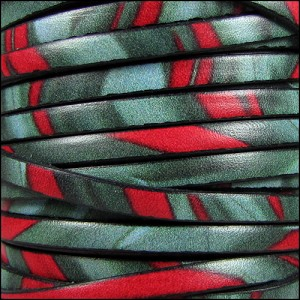 5mm flat ITALIAN PRINTED leather JUNGLE - per 5 meters