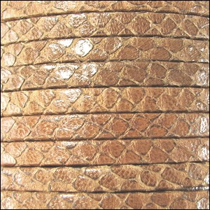 5mm flat EGYPTIAN STYLE leather CAMEL - per 5 meters
