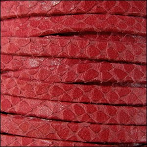 5mm flat EGYPTIAN STYLE leather RED - per 5 meters