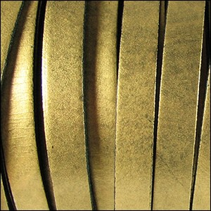 10mm flat leather METALLIC OLD GOLD - per 2 meters