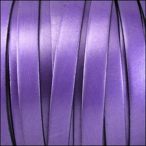 10mm flat leather METALLIC PURPLE - per 2 meters